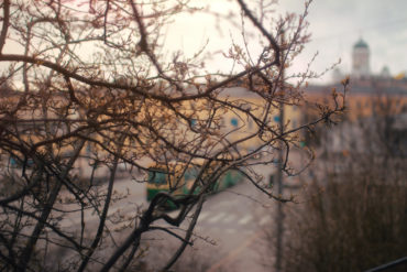 Tram ride in Helsinki. The photo was taken with solar powered camera. Photo: Tiina Junno